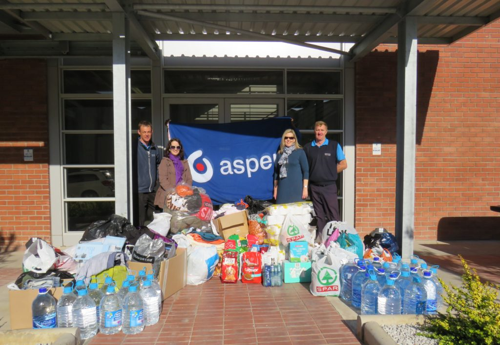Relief for fire victims